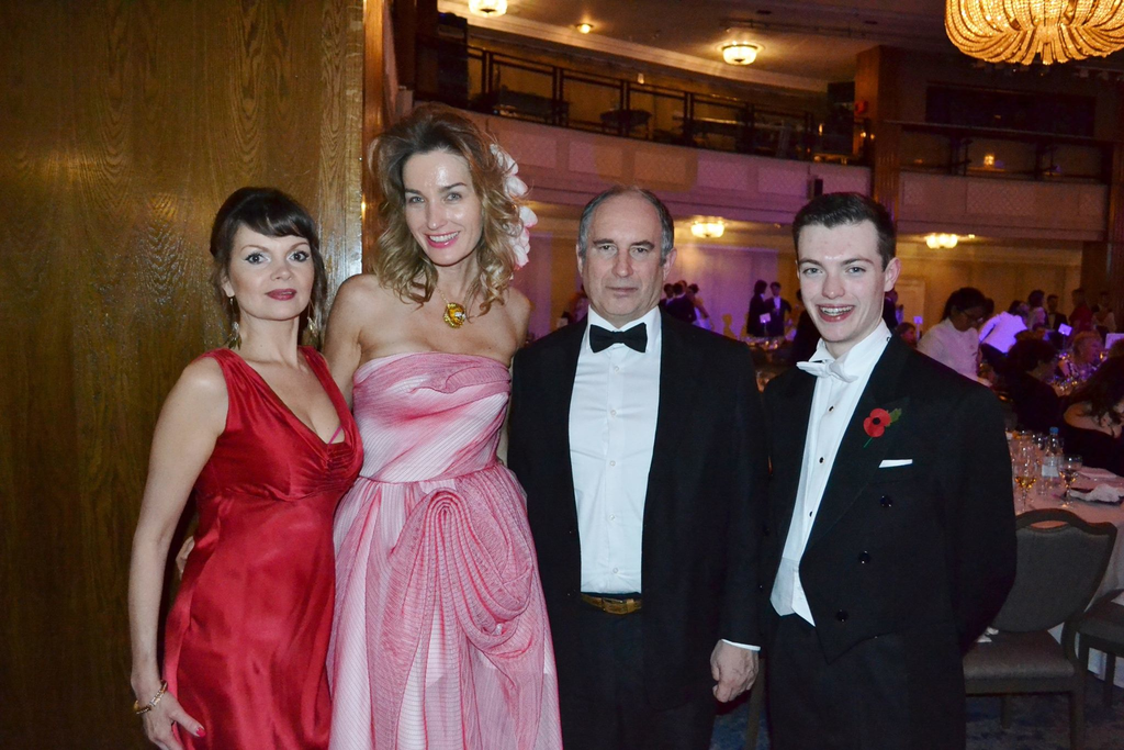 Peter Blue. Beata, Olga, myself & Issac at the Russian ball