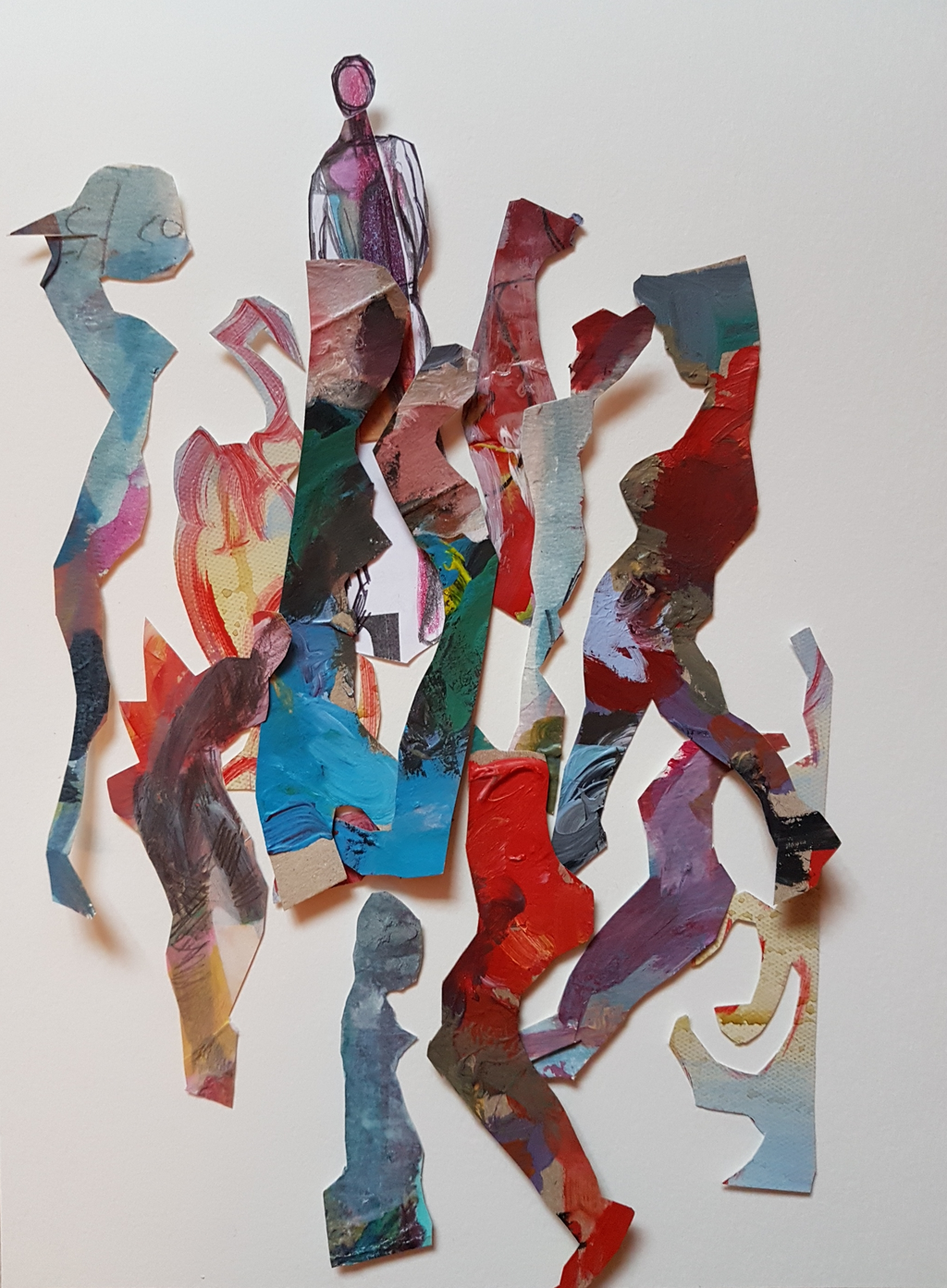 IVILINA KOUNEVA. Braving our way through - painted cut-outs on paper