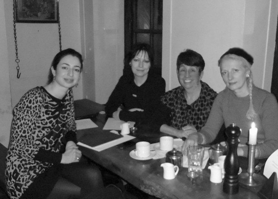Mila Askarova, Gaye Black, Miriam Halahmy and JoWonder at Blacks Club, Soho, London